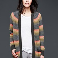 Gap Women Stripe Open Front Cardigan