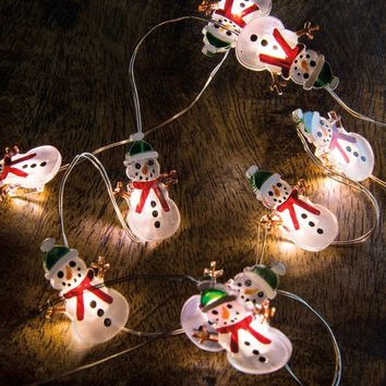 Snowman Wire Lights