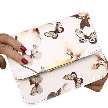 Butterfly Shoulder Bag Satchel Handbag Retro Messenger Bag