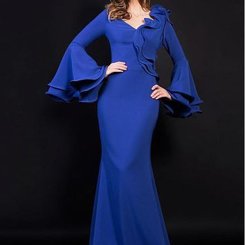 [99.99] Chic Spandex V-neck Neckline Full-length Sheath Formal Dresses - dressilyme.com