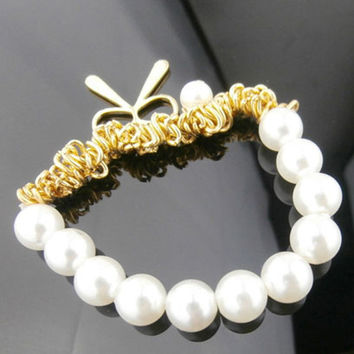 Pearls Stylish Fashion Butterfly Korean Bracelet = 4806914692