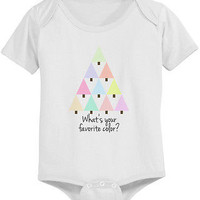 Cute Christmas Tree Baby Bodysuit - Pre-Shrunk Cotton Snap-On Style Baby Onesuit