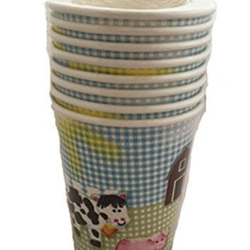 Special Occasions Farm Animal Theme Hot/Cold Paper Cups