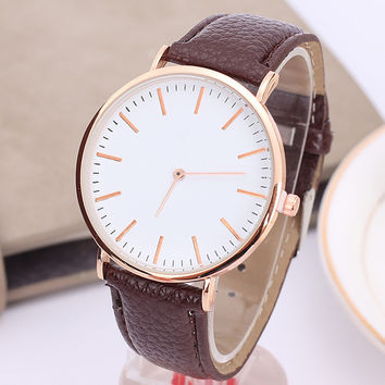 Keeptime Mens Watches Top Brand Luxury Ultra Slim Calendar Display Quartz Watch Men 2016 Business Leather Band Relogio Masculino