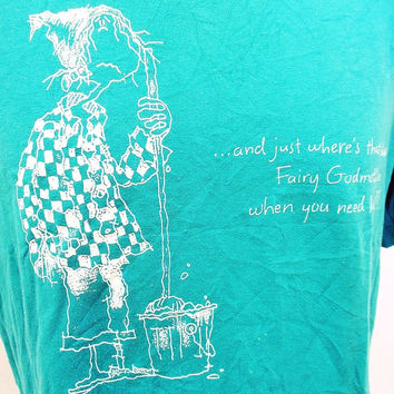 Vintage T-Shirt Rags To Riches Fairy Godmother Large