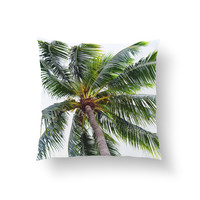 Caribbean Palm - Throw Pillow Cover