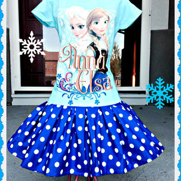 girls dress FROZEN Queen Elsa Anna party size 5/6 last size ready to ship today