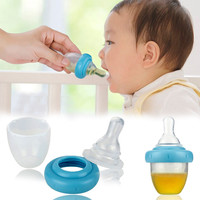 High Quality Safe Baby Squeeze Medicine Dropper Dispenser 2017 Baby Pacifier Needle Feeder Feeding Flatware Utensils PP 5