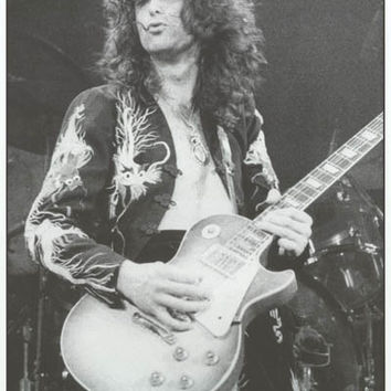 Led Zeppelin Jimmy Page London 1975 Poster 24x33