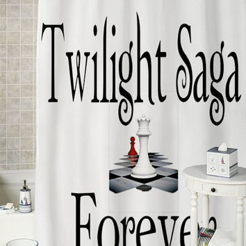 Twilight Forever  special shower curtains that will make your bathroom adorable.