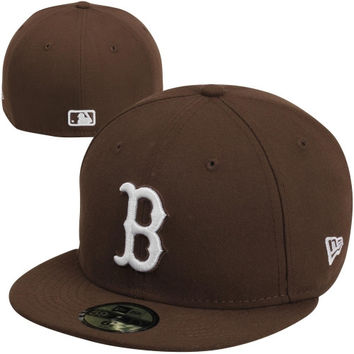 New Era Boston Red Sox 59FIFTY Fashion Fitted Hat - Brown