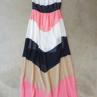 Riptide Colorblock Maxi [7213] - $42.00 : Feminine, Bohemian, & Vintage Inspired Clothing at Affordable Prices, deloom