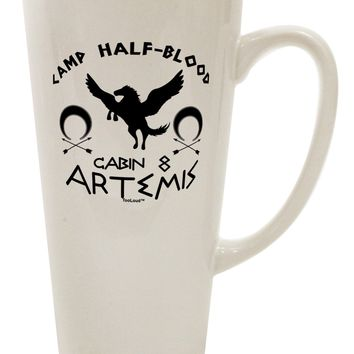 Camp Half Blood Cabin 8 Artemis 16 Ounce Conical Latte Coffee Mug by TooLoud