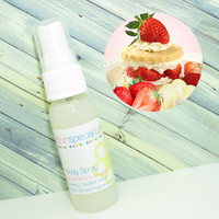 Strawberry Shortcake Body Spray, Room Spray, Kids Spray, Bath Spray, Pet Spray, Alcohol Free Spray, Vanilla Cake, Strawberries, Cream