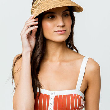 Straw Womens Visor