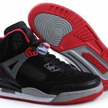Hot Nike Air Jordan 3.5 Spizike Suede Women Shoes Black Red