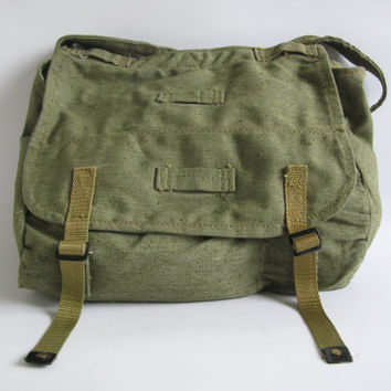 Military Canvas Bag, Vintage Army Green Messenger Bag, Canvas messenger bag,Never Used, Unused Bag, Messenger bag,Cross body bag