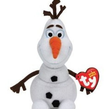 """Disney Forzen OLAF Ty Sparkle Small 6"""" NWT The Beanie Babies Collection"""