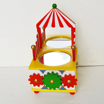 musical box for children, dressing table for girls, mirror for girls, muzical toy, circus toy, gift for christmas, gift for children