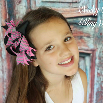 "Girls Carefree 5"" Layered Hair Bows"