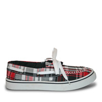 Women's Kaymann Boat Shoes - Red Plaid (Special Offer)