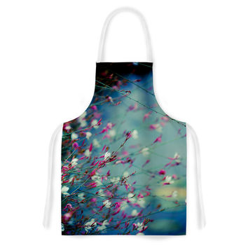 "Ann Barnes ""Monet's Dream"" Dark Flower Artistic Apron"