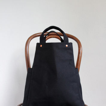 Handmade Canvas Vegan Field Tote