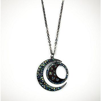 Celestial Moon Necklace - Spencer's
