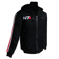 Cool Game Mass Effect 3 N7 Cotton Blende Cosplay Costume Hoodie Coat Jacket New Free Shipping