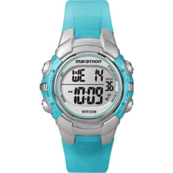 Timex Marathon Digital Mid-Size Watch - Light Blue