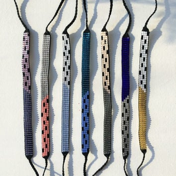 Seed Bead Friendship Bracelet - Art Deco Pattern