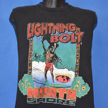 90s Lightning Bolt World Surf Sleeveless t-shirt Medium