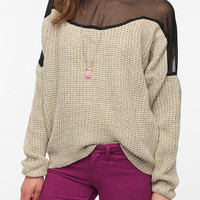 Urban Renewal Chiffon Top Sweater