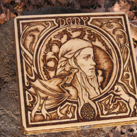 A Game of Thrones Woodburned Box - Dany