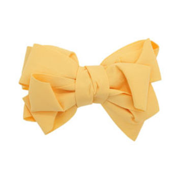 YELLOW BIG BOW BARRETTE