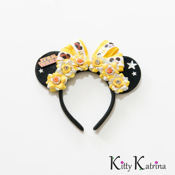 Star Wars Disney Ears Headband, Star Wars Headband, Star Wars Minnie Ears, Star Wars Mickey Ears, Star Wars Dress, Disneyland, Disney World