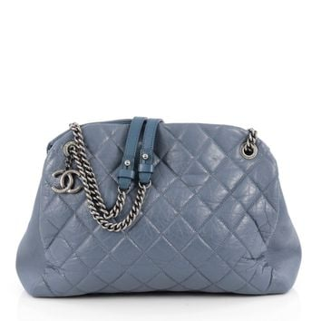 Chanel Pre-Owned: Aged Chain Mademoiselle Bowling Bag Quilted Aged Calfskin Large | Bluefly.Com