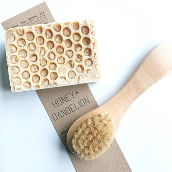 Wooden Face Brush, Exfoliating, Deep Cleansing, Clear Skin, Remove Impurities, Natural Soap, Face Soap, Face Cleansing, Soap + Brush Set
