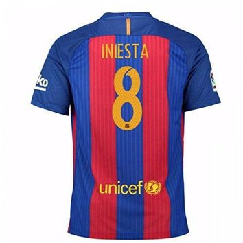 2016 2017 Barcelona Home Nike Shirt (kids) With Sponsor