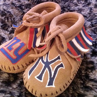 Custom NY Yankees and NY Giants Moccasins