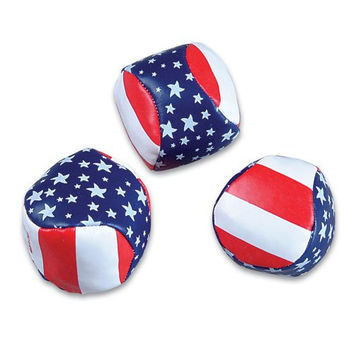Stars and Stripes Kickball Hacky Sacks (Package of 12)