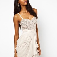 Lipsy VIP Prom Dress With Sequin Bust