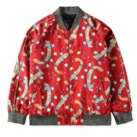 Indie Designs Saint Laurent Inspired Floral Bomber Jacket