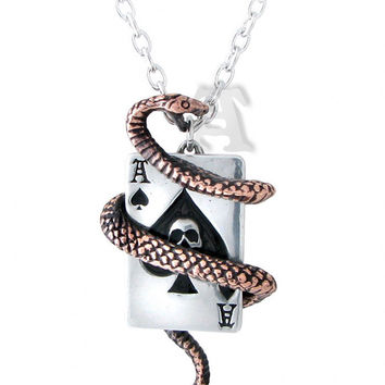 Snake Of Aces Pendant Necklace