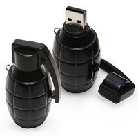 ThinkGeek :: USB Grenade Flash Drive