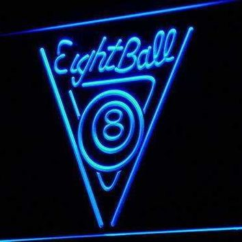 Eight Ball Billiards Neon Sign (LED)