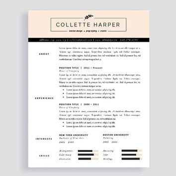 Creative Resume Template  With Cover From Polishedresumedesign