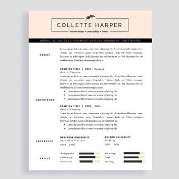 Professional CV Template and Cover Letter | Resume for Word and Pages | Two Page Resume | Instant Download | Modern Resume for Job Hunters