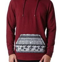 On The Byas Neil Pocket Pullover Hoodie - Mens Hoodies - Red