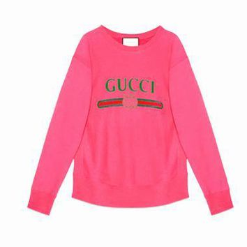 One-nice™ GUCCI HOT SALE Round neck letters printed loose long sleeve sweater